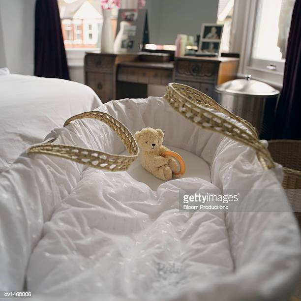 cot with a cuddly toy in it, in a bedroom - losing virginity stock pictures, royalty-free photos & images