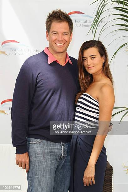 Cote de Pablo and Michael Weatherly attend photocall for NCIS at Grimaldi Forum on June 10 2010 in MonteCarlo Monaco