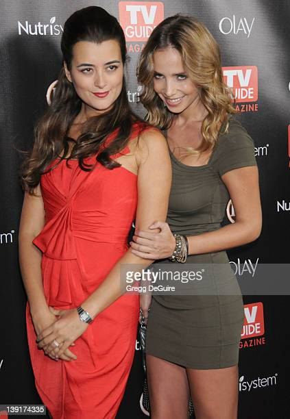 Cote de Pablo and Sarai Givaty arrive at TV Guide Magazine's 2010 Hot List Party at Drai's at the W Hollywood Hotel on November 8, 2010 in Hollywood,...