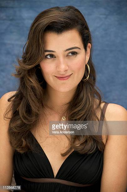 "Cote de Pablo at the ""NCIS"" press conference at the Four Seasons Hotel on April 22, 2009 in Beverly Hills, California."