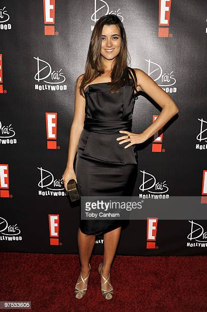Cote De Pablo poses for a picture at the E! Oscar Viewing and After Party at Drai's Hollywood on March 7, 2010 in Hollywood, California.