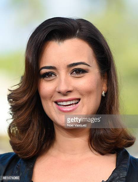 Cote de Pablo visits 'Extra' at Universal Studios Hollywood on January 12 2015 in Universal City California