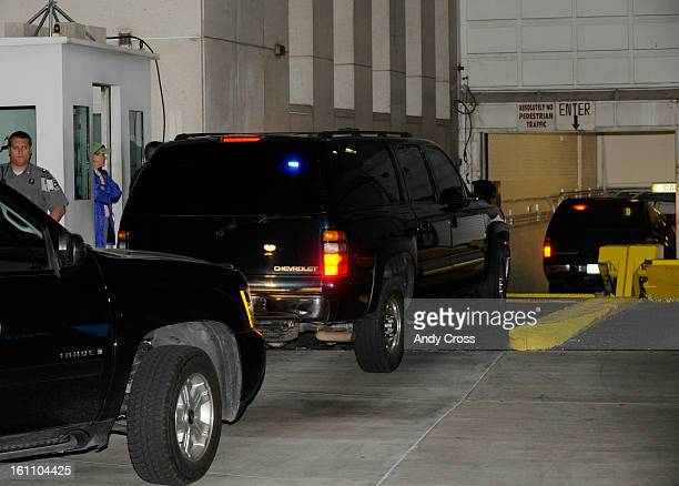 Terrorism suspect Najibullah Zazi after being arrested by FBI agents in Aurora Colo arrives at the FBI office in Denver Colorado on Saturday...