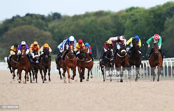 Coto ridden by Calum Shepherd wins theMobile Betting At 188BET Fillies HandicapStakes during the Newcastle Races at Gosforth Park on May 17 2016 in...