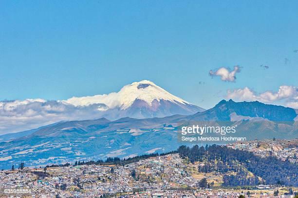 Cotopaxi Volcano as seen from the very north of Quito, Ecuador