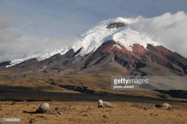 Vista del volcán Cotopaxi en Ecuador