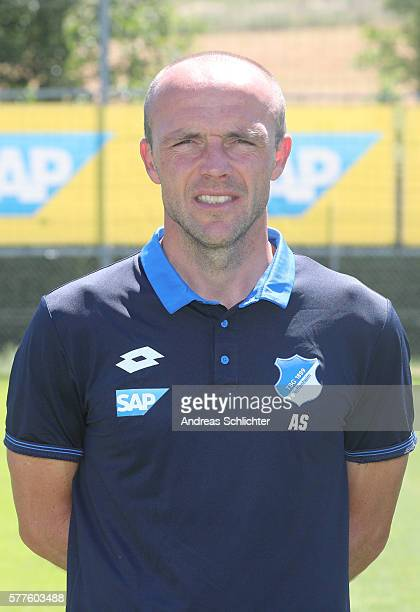 CoTrainer Alfred Schreuder poses during the offical team presentation of TSG 1899 Hoffenheim on July 19 2016 in Sinsheim Germany