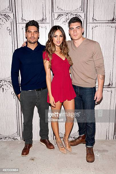 DJ Cotrona Eiza Gonzalez and Zane Holtz attend AOL Build Presents From Dusk Til Dawn The Series at AOL Studios In New York on October 9 2015 in New...