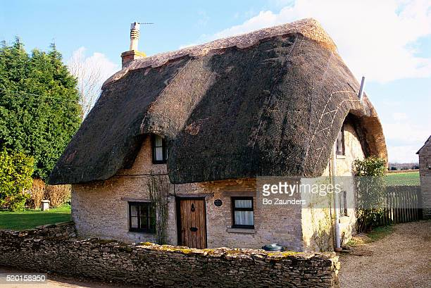 Cotswold Hills Cottage with Thatched Roof