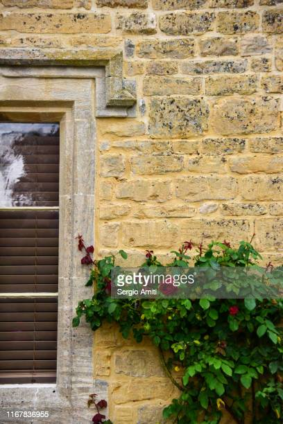 cotswolds cottage wall - grounds stock pictures, royalty-free photos & images