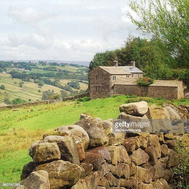 Cottage and dry stone wall