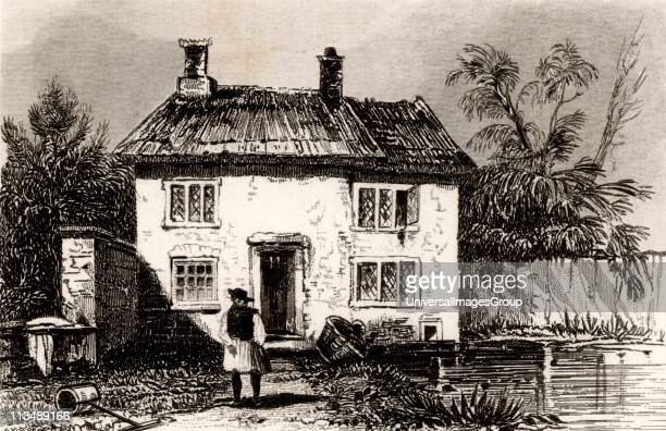 Cottage at Wrington in north Somerset near Bristol England the birthplace of John Locke English philosopher and scientist one of the founders of the...