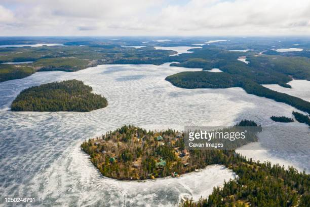 cottage country isolation in northwestern ontario - wilderness stock pictures, royalty-free photos & images