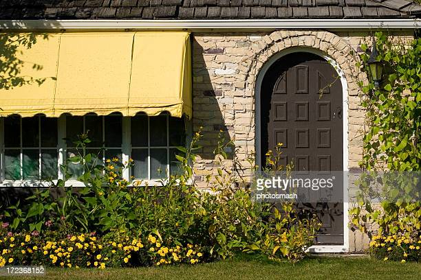 Cottage Door and Awning.