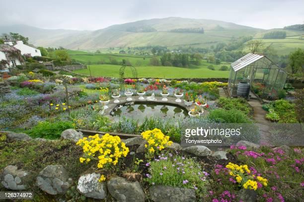 Cottage garden in spring, Troutbeck.