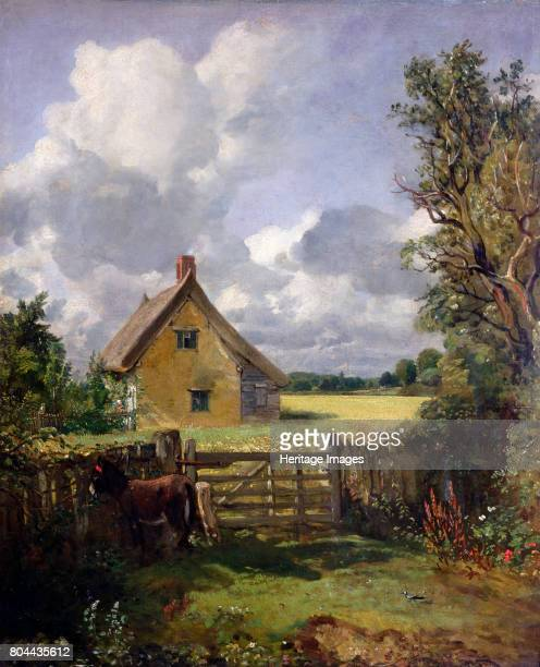 Cottage in a Cornfield', 1833. Artist John Constable.
