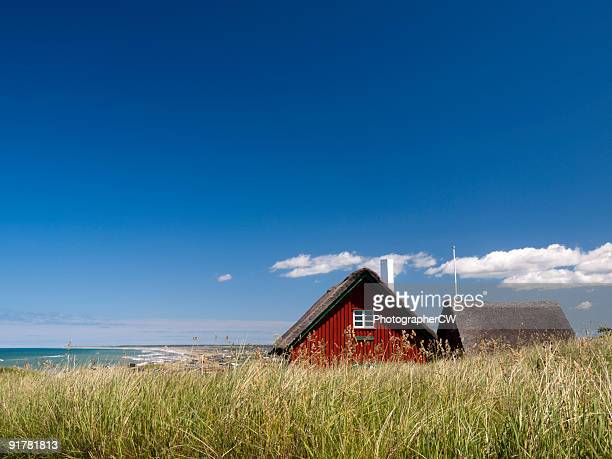 cottage in loenstrup, denmark - denmark stock pictures, royalty-free photos & images