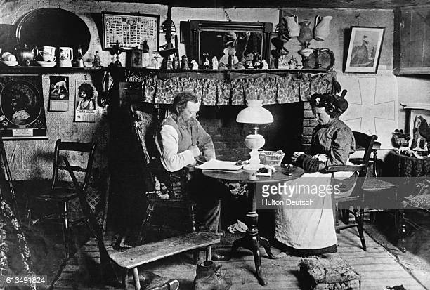 A cottage interior late 19th century