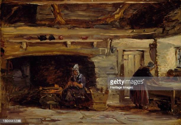 Cottage Interior, Trossavon near Bettws-y-Coed, 1844-1847. Artist David Cox the elder.