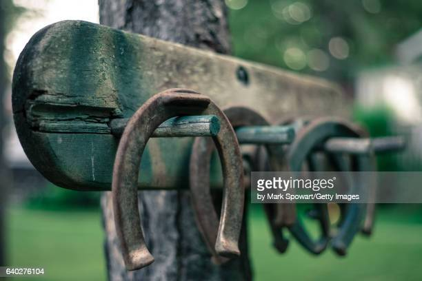 cottage living - horseshoe stock pictures, royalty-free photos & images