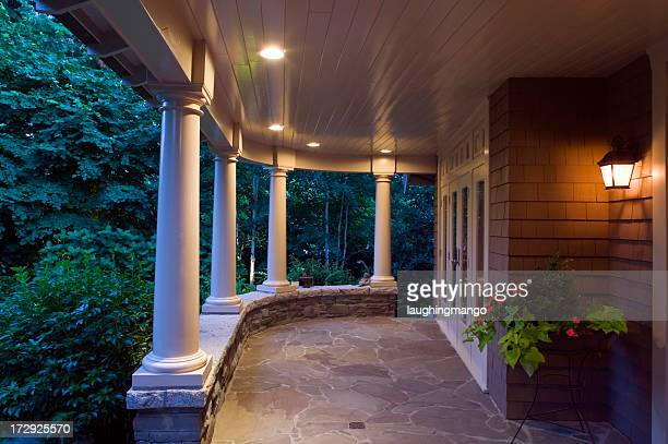 cottage verandah dusk - ceiling stock pictures, royalty-free photos & images