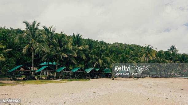 Cottages at the resort in Aniao beach