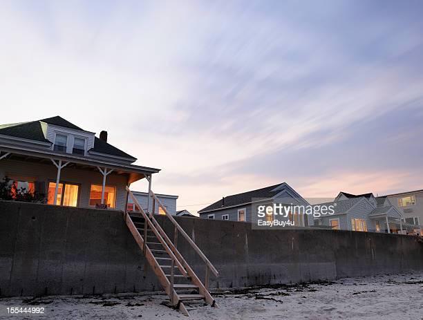 Cottages au bord de la plage
