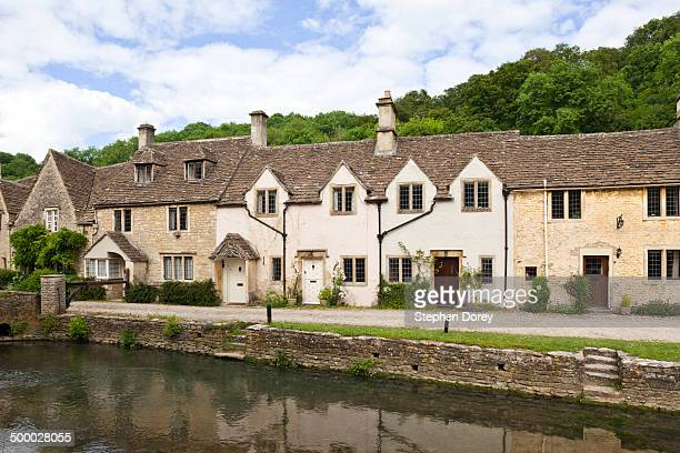 Cottages by the river, Castle Combe, Wiltshire