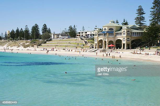 cottesloe beach - perth stock pictures, royalty-free photos & images