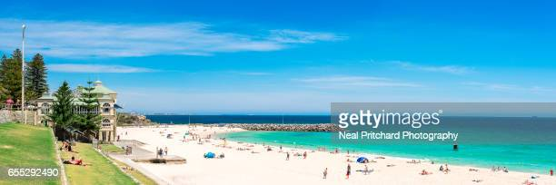 cottesloe beach - perth australia stock pictures, royalty-free photos & images