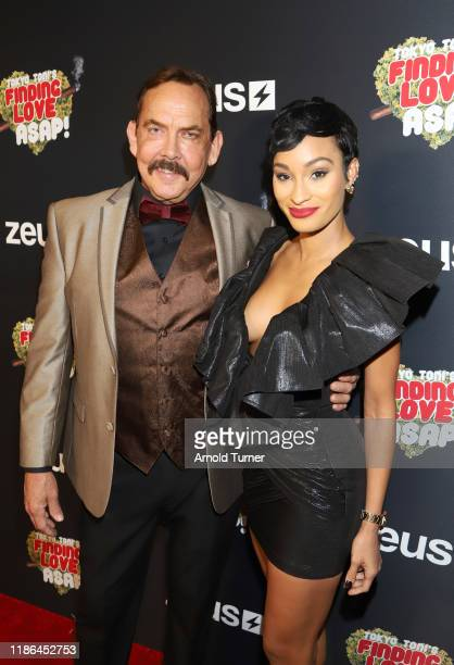 Cotton and Janeisha John attend Tokyo Toni's Finding Love ASAP Zeus Network Los Angeles Premieree at AMC Theaters Universal City Walk on November 08...