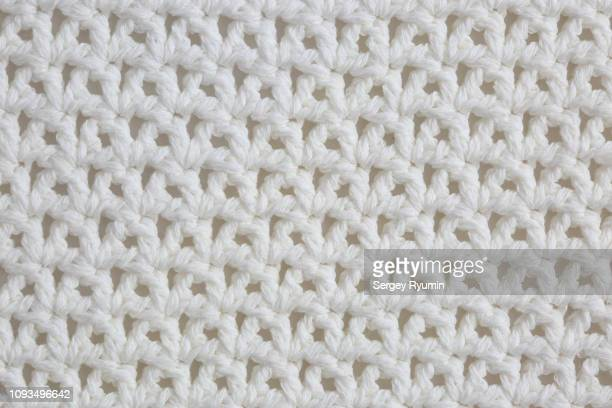 cotton crochet close-up as background - crochet - fotografias e filmes do acervo