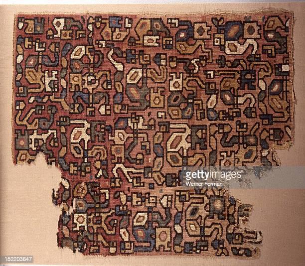 Cotton mantle Peru Wari 400 800 AD Coastal Peru