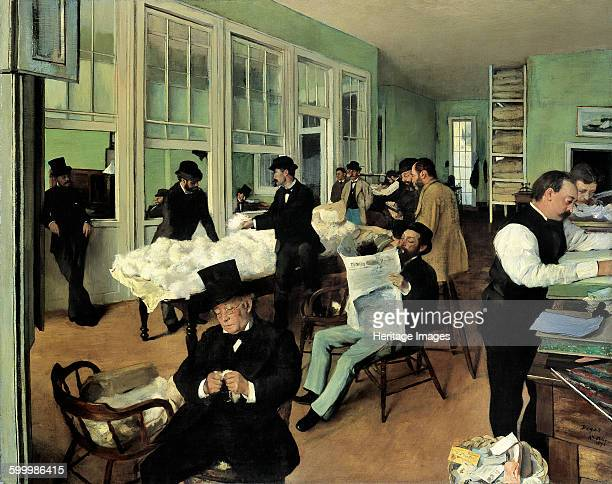 A Cotton Office in New Orleans 1873 Found in the collection of Musée des beauxarts de Pau Artist Degas Edgar