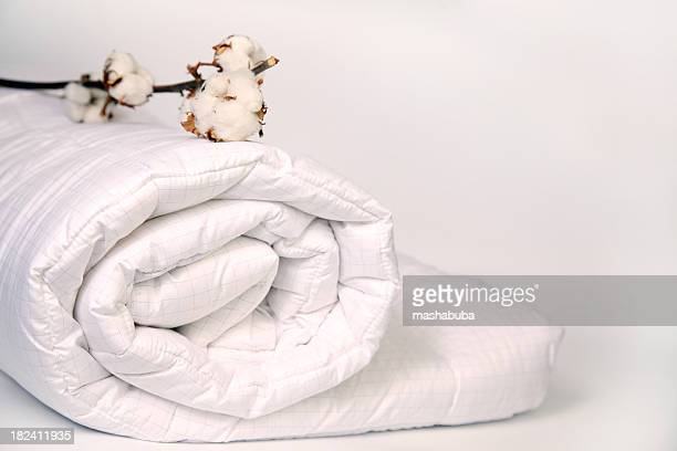 cotton on duvet. - bedclothes stock pictures, royalty-free photos & images