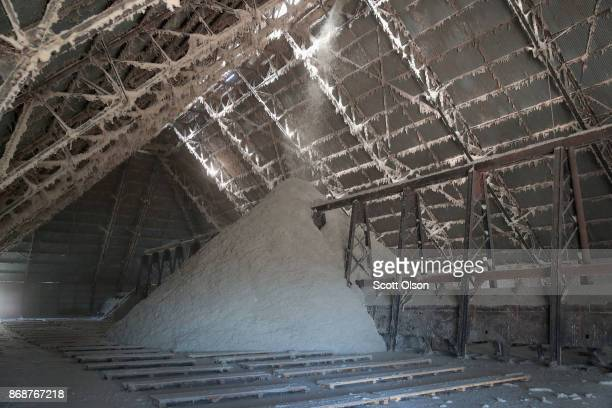 Cotton seed is loaded into a seed house at Wilson Gin on October 30 2017 near Wilson Arkansas Despite extensive damage to the nation's cotton crop...