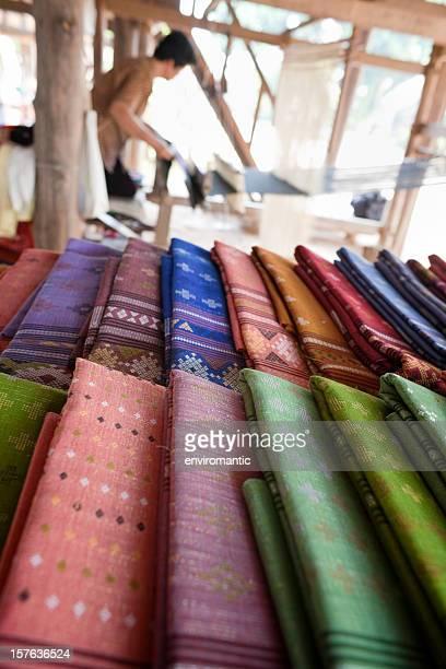 コットンの織物は、タイ北部ます。
