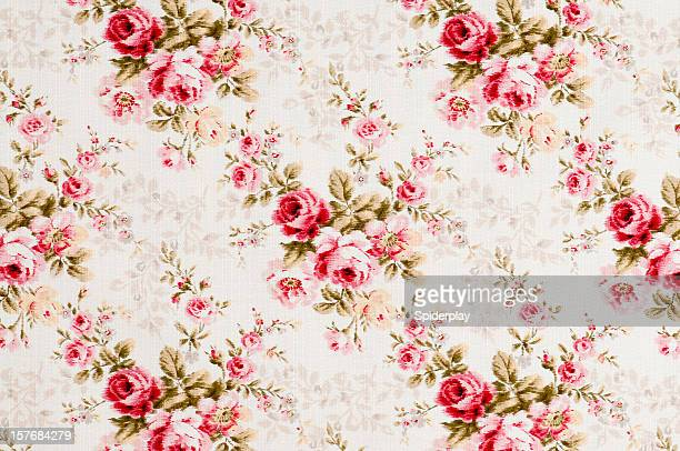 Cottonwood Close Up Antique Floral Fabric
