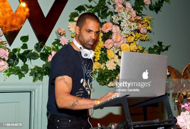 Cottrell Guidry plays a DJ set during Recording Artist Autumn Knight's debut of her New Pop Album HERE AND NOW at Warwick on November 08 2019 in...