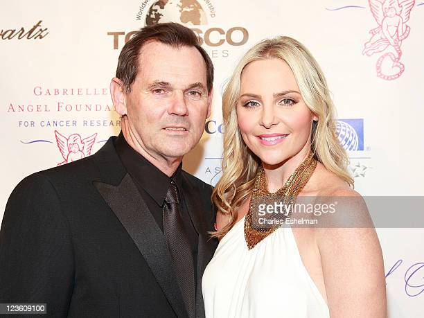Coty Inc CEO Bernd Beetz and makeup artist Carmindy attend the 2010 Angel Ball to Benefit Gabrielle's Angel Foundation at Cipriani Wall Street on...