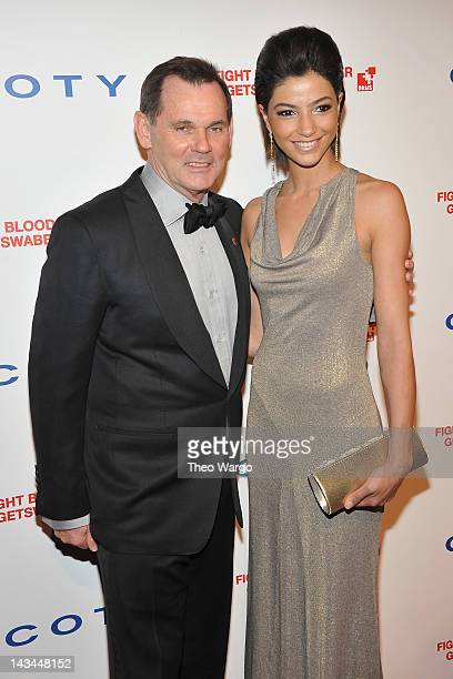 Coty Inc Chief Executive Officer Bernd Beetz and model Melek Civantürk attend the 6th annual DKMS Linked Against Blood Cancer gala at Cipriani Wall...