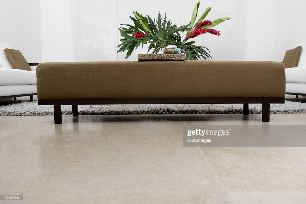 Couch in a living room : Stock Photo