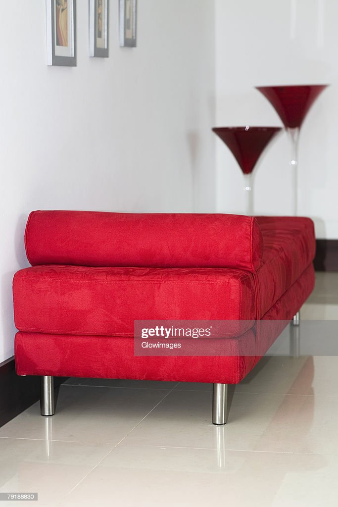Couch in a room of a house : Stock Photo