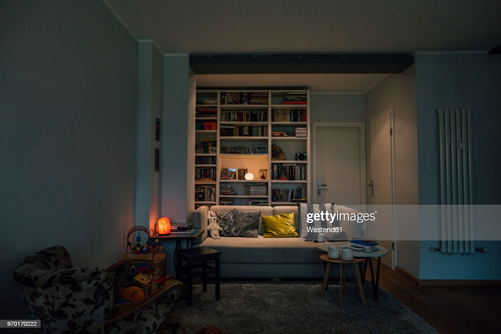 Couch in cozy living room : Photo