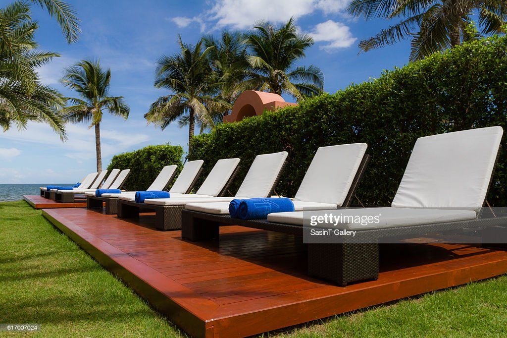 Couch in the garden : Stock Photo