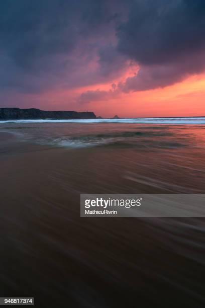 Coucher de soleil sur la Presqu'île de Crozon face à Pen Hir