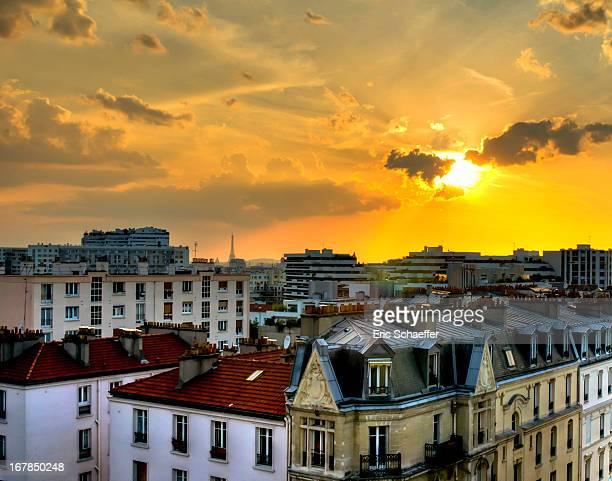 Coucher de Soleil sur les toits de Paris
