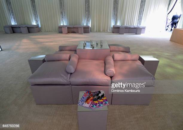 Couches on display at the 25th Annual Elton John AIDS Foundation's Academy Awards Viewing Party at The City of West Hollywood Park on February 26...