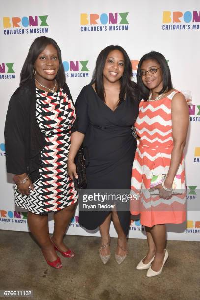 Coucil Member Vanessa L Gibson Board Member April Horton and Takisha Dozier attend the Bronx Children's Museum Gala at Tribeca Rooftop on May 2 2017...
