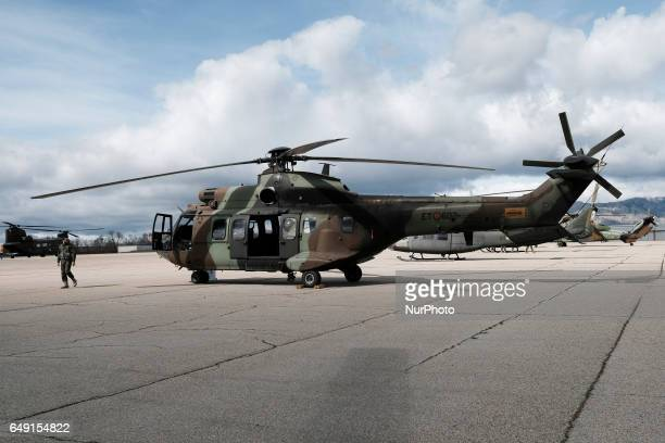 Cougar is a mediumsized twinengine multipurpose helicopter manufactured by the Eurocopter Group in the FAMET Military Base on March 6 2017 in...